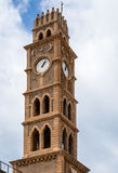 Old clock tower akko israel. Old clock tower akko , Ottoman landmark building - Han El-Umdan Stock Image