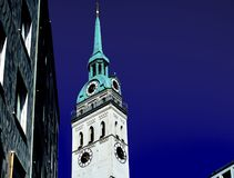 An Old clock tower royalty free stock photos