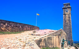 Old Clock Tower At Galle Dutch Fort, Sri lanka Royalty Free Stock Photography