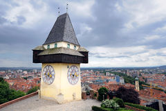 Old clock tower in Graz Royalty Free Stock Photo