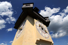 Old clock tower in Graz Royalty Free Stock Image