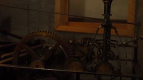 Old clock tower mechanism mechanism for old clock tower stock video footage