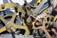 Old clock tower mechanism Royalty Free Stock Photography