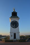 Old clock tower on Petrovaradin fortress Royalty Free Stock Photography