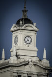 Old clock tower in Plaza de Colon, Madrid, Spain Royalty Free Stock Photos