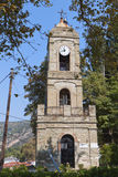 Old clock tower at Portaria in Greece Stock Photography