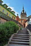 Old Clock Tower in Sighisoara Royalty Free Stock Photo