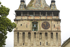 Old clock tower, Sighisoara, Romania Stock Photos