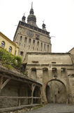 Old clock tower, Sighisoara, Romania Stock Photography