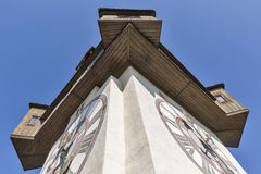 Old clock tower Uhrturm closeup in Graz, Austria Stock Image