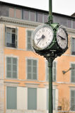 Old clock in town Royalty Free Stock Photos
