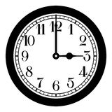 Old clock. Old wall clock black and white picture Stock Photos