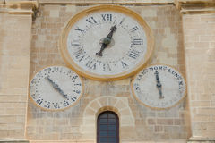 The old clock on the wall Royalty Free Stock Photography