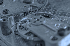 Old Clock Watch Mechanism With Gears Royalty Free Stock Photos