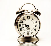 Old clock on white background. Stock Photos