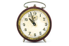 Old clock on white background Stock Images
