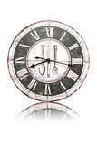 Old Clock  on white background Stock Photography