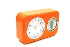 Old clocks. Objects on white series: old clocks royalty free stock image