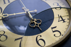 Old clocks. Old clocks with crashed glass Royalty Free Stock Image