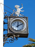 Old clocks with lion Stock Photo