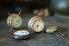 Old clocks stock images