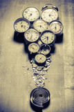 Old clocks and the parts Stock Image