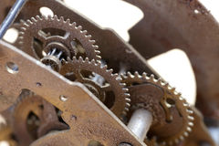 Old clockwork close up Stock Photography