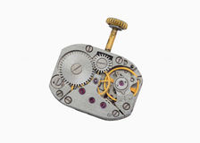 An old clockwork with crank Royalty Free Stock Images