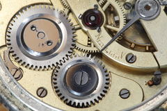 Old clockwork inside Stock Images
