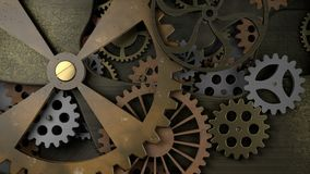 Old Clockwork with many cogwheels Stock Photography