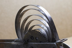 Old clockwork toy. Rest of an old clockwork toy locomotive Stock Photography