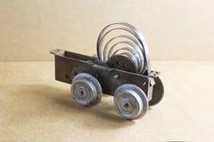 Old clockwork toy. Rest of an old clockwork toy locomotive Royalty Free Stock Image