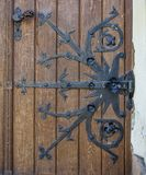 Old closed beautiful door. royalty free stock photography