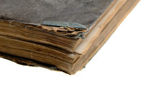 Old closed book top view Stock Photos