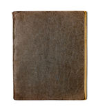 Old closed copybook or diary on white Royalty Free Stock Photography
