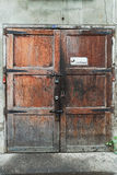 Old closed door with 3 locks Royalty Free Stock Photography