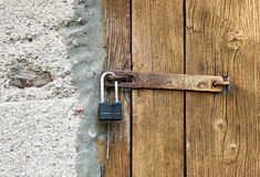 Old closed doors Stock Images