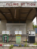 Old closed down filling station Stock Images
