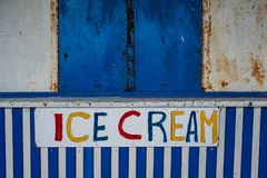 Old closed ice cream kiosk Royalty Free Stock Photos