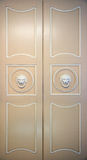 Old closed ornate doors Stock Photo