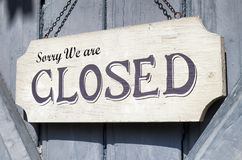 Old closed sign. Closed sign at a shop - nice background Royalty Free Stock Photo
