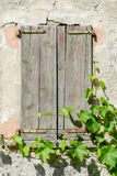 Old closed window of a house at Sorengo. On Switzerland Royalty Free Stock Photo