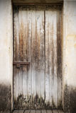 Old closed wooden door royalty free stock photography