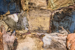 Old clothes disintegrated as texture Royalty Free Stock Image