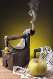 Old clothes iron Stock Image