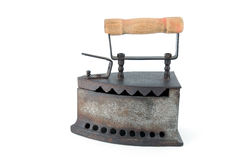 Old clothes iron still ready to ironing Royalty Free Stock Image