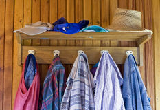 Old clothes in the old house Stock Image