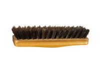Old clothes (or shoe) brush with wooden handle isolated on the w Royalty Free Stock Images