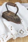 Old clothing iron Stock Photo