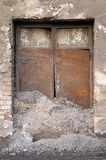 Old cluttered door royalty free stock image